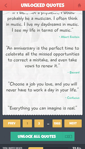 Quotes Quiz » Unlocked Quotes